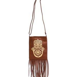 Zulily d'Orcia Whiskey Hamsa Crossbody Bag